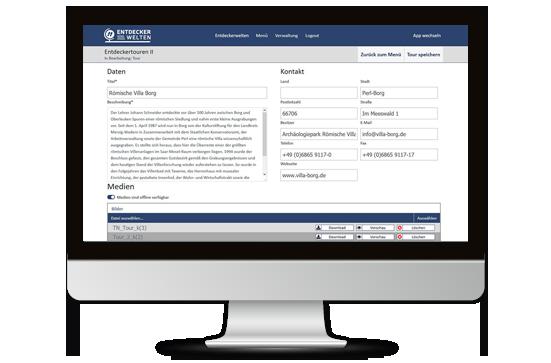 ENTDECKERWELTEN Portal: App-Inhalte selbst erfassen