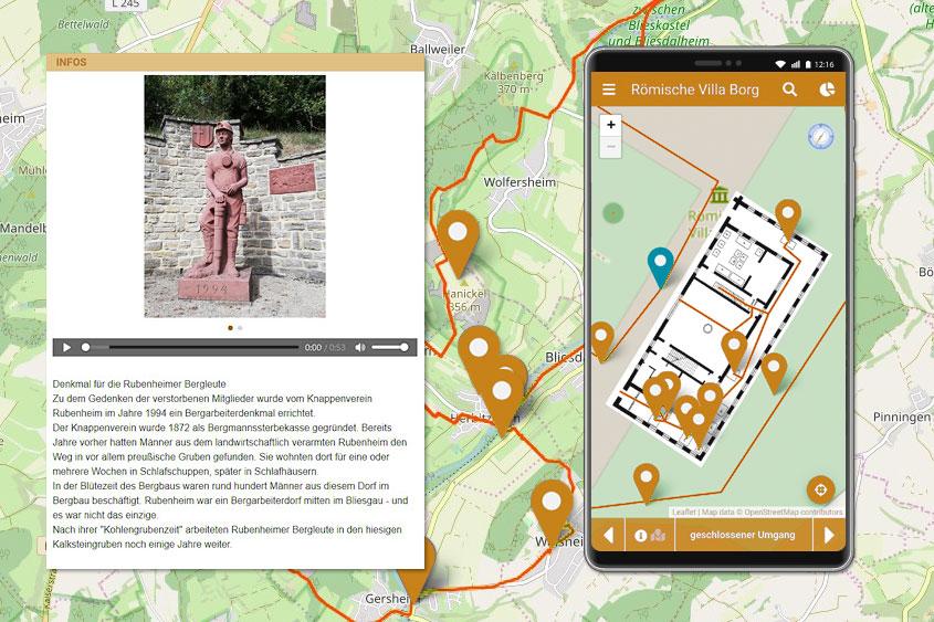 ENTDECKERWELTEN - Interaktive Karten und Streckenverläufe